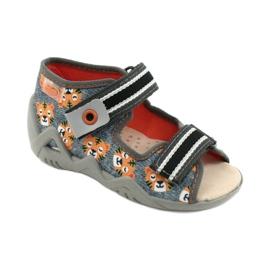 Befado keltaiset lasten kengät 350P016 oranssi harmaa