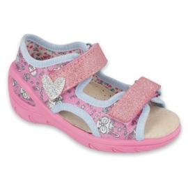 Befado lasten kengät pu 065X147 pinkki hopea harmaa