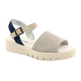 Mukavat sandaalit nahkaa Filippo DS2021 / 21 GR sininen harmaa