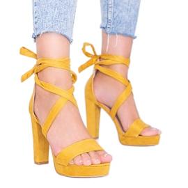 Ginnyn sinappipitsisandaalit keltainen