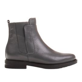 Marco Shoes Kevyet saappaat eristetty tasaisella pohjalla luonnon nahasta harmaa