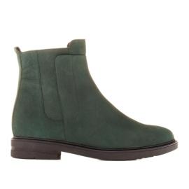 Marco Shoes Kevyet saappaat eristetty tasaisella pohjalla luonnon nahasta vihreä