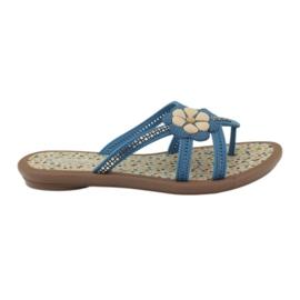 Rider Flip flops lasten kengät ja kukka veteen Grendha sininen