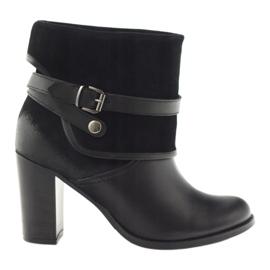 Musta klassinen naisten kengät talvikengät Edeo 1754