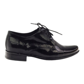 Musta lakattu lasten kengät Gregors 429