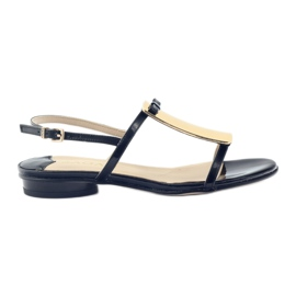 Naisten sandaalit kulta koriste Sagan 2698