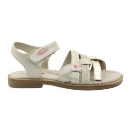 American Club Gladiaattorin sandaalit beige ja kulta