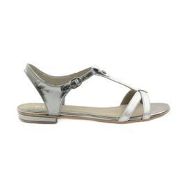 Naisten sandaalit EDEO wz.3087 hopea harmaa