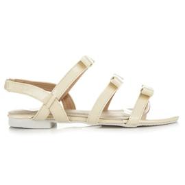 Vices keltainen Lakatut sandaalit, joissa on jouset