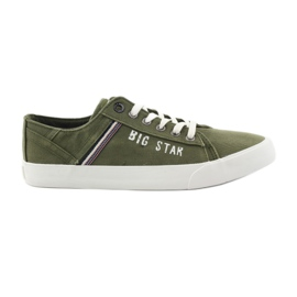 Big Star vihreä Suuret tähtikengät 174315 khaki-tennarit