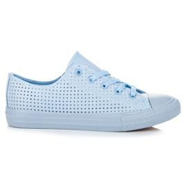 Kylie Avokärkiset lenkkarit, sidonta sininen