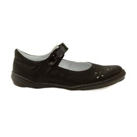 Musta Ballerinas-tyttöjen kengät Ren But 4351