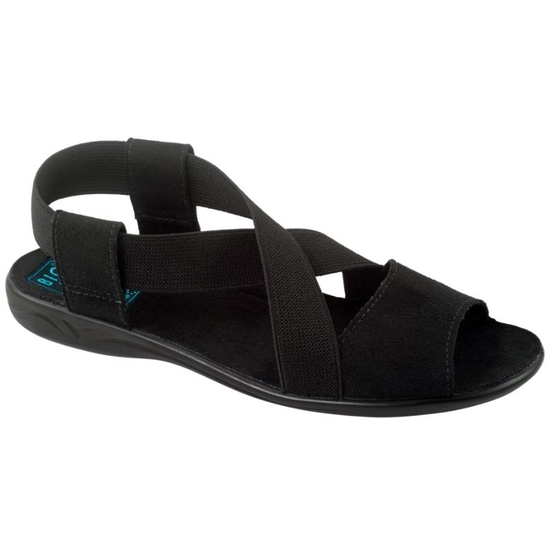 Mukavat mustat naisten sandaalit Adanex 17498