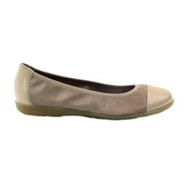 Caprice naisten kengät ballerinas 22152 nahka ruskea