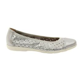Caprice naisten kengät ballerinas 22151 nahka harmaa