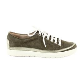 Caprice naisten kengät nahkakenkiä 23654 vihreä