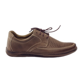 Ruskea Riko miesten kengät, joissa on rei'itetyt kengät 848