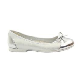 American Club valkoinen Ballerinas-kengät, joissa on amerikkalainen keula
