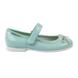 American Club vihreä Ballerinas-kengät, joissa on amerikkalainen keula