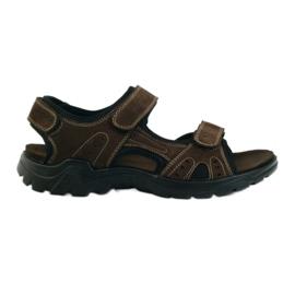 American Club ruskea American nahka miesten sandaalit