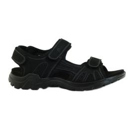 American Club musta American nahka miesten sandaalit