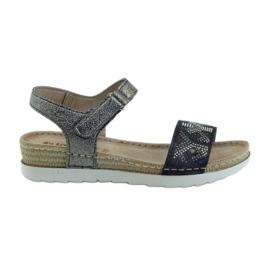 Sandaalit mukava INBLU hopea-grafiitti harmaa