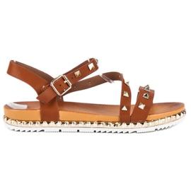 Anesia Paris Ruskeat sandaalit, joissa on nastat