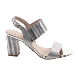 Harmaa Naisten sandaalit Gamis 3390 hopeapilarissa