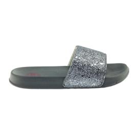Profiloitu tossut Big Star glitter harmaa