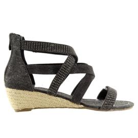 Espadrillit musta kengät ME11783 Musta