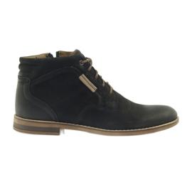 Musta Riko saappaat vetävät vetoketjulla miesten kenkiä