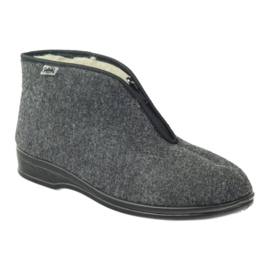 Harmaa Befado miesten kengät lämpimät tossut 100M047