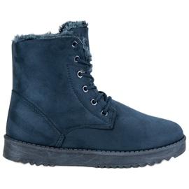 Forever Folie sininen Lämmin Suede Shoes