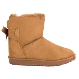 Ruskea Camel Snow Boots jossa keula