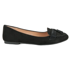 Small Swan Loafers kanssa Fringes musta