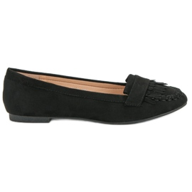 Small Swan Classic Black Loafers musta