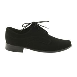 Musta Miko-kengät lapset mokkahousujalkineet