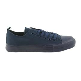 Miesten kengät sidottu tennarit sininen American Club LH05 laivasto