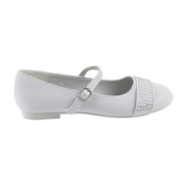 Valkoinen Pumput lasten kengät ehtoollinen Ballerinas strassit American Club 11/19