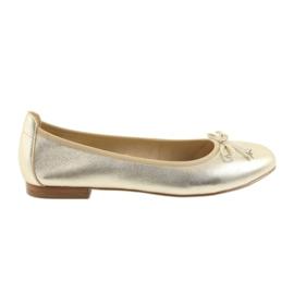 Keltainen Caprice ballerinas kullan kengät naisille 22102
