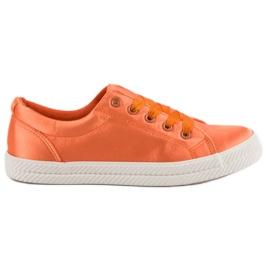 Kylie Satiini lenkkarit oranssi