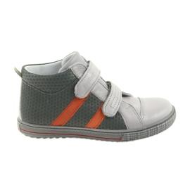 Ren But Boote kengät lasten Velcro saappaat Ren 4275 harmaa / oranssi