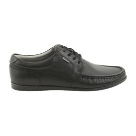 Baduran miesten loafers sidottu 3175 musta