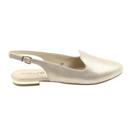 Keltainen Caprice lordsy naisten kultaiset kengät 29400