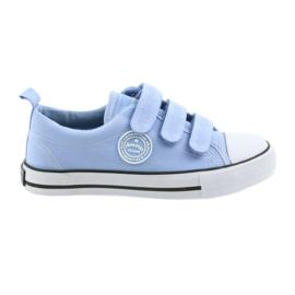Kengät lasten tarranauhat American Club blue LH49