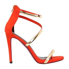 Sandaalit oranssilla nastalla 988-58 Oranssi