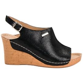 Filippo Kevyet sandaalit Kiilassa musta