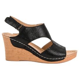 Filippo Musta kiila sandaalit
