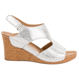 Filippo Hopeakiila sandaalit harmaa