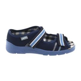 Sandaalit lasten kengät Velcro Befado 969x101 tummansininen